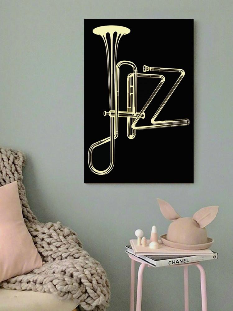 لوحة فن الجاز خشب ام دي اف مقاس 40x60 سنتيمتر