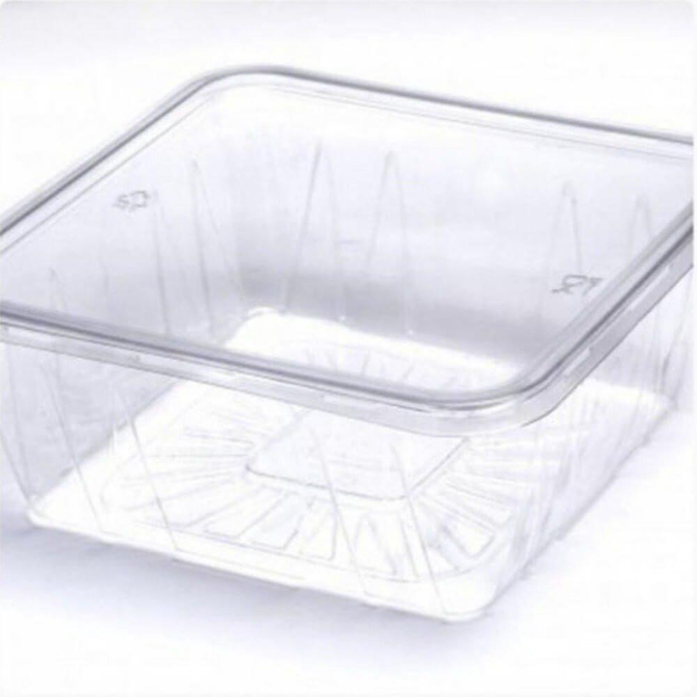 علب بلاستيك مربعة