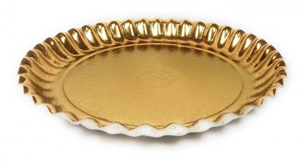 صحن ورق ذهبي دائري