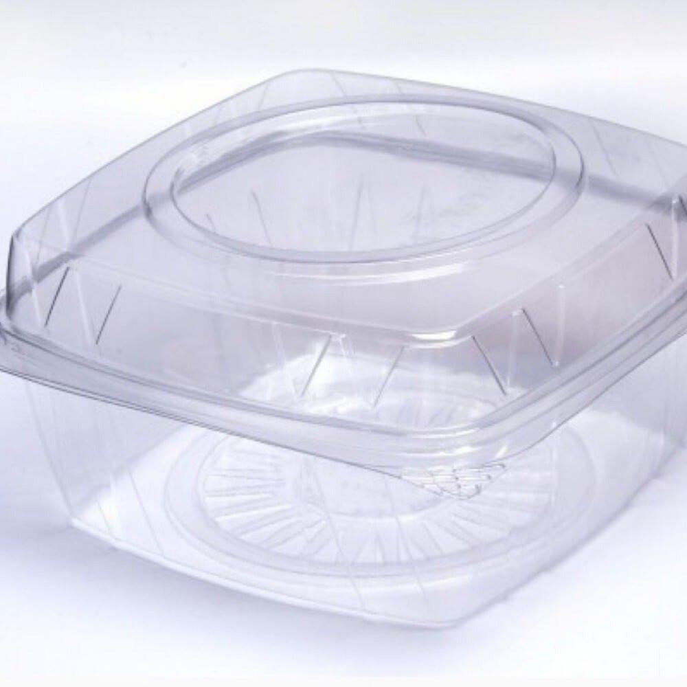 علب بلاستيك مربعة بغطء