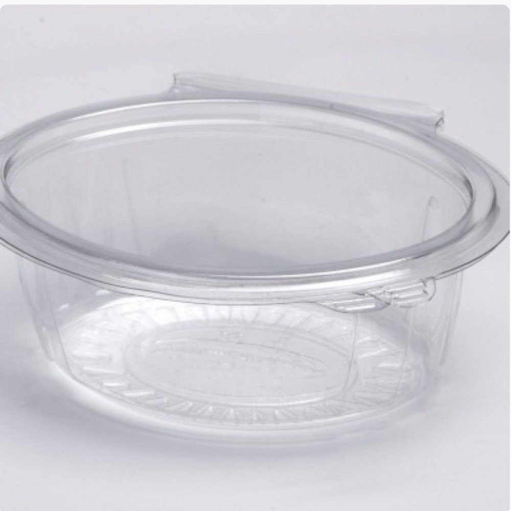 علب بلاستيك دائري بغطاء متصل
