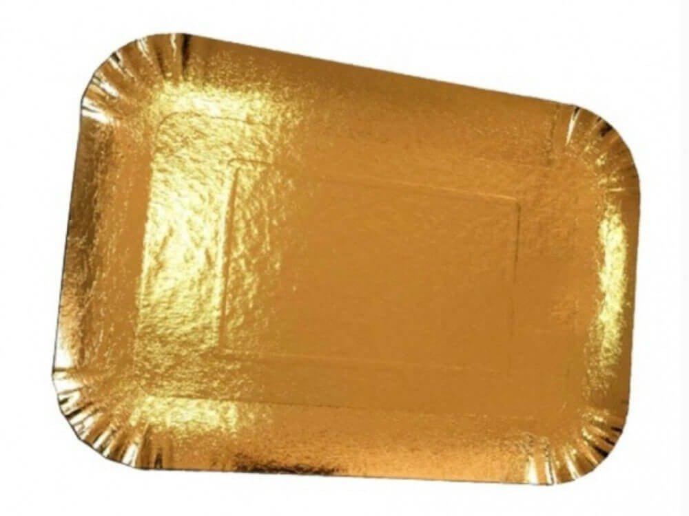 صحون ورقية ذهبية