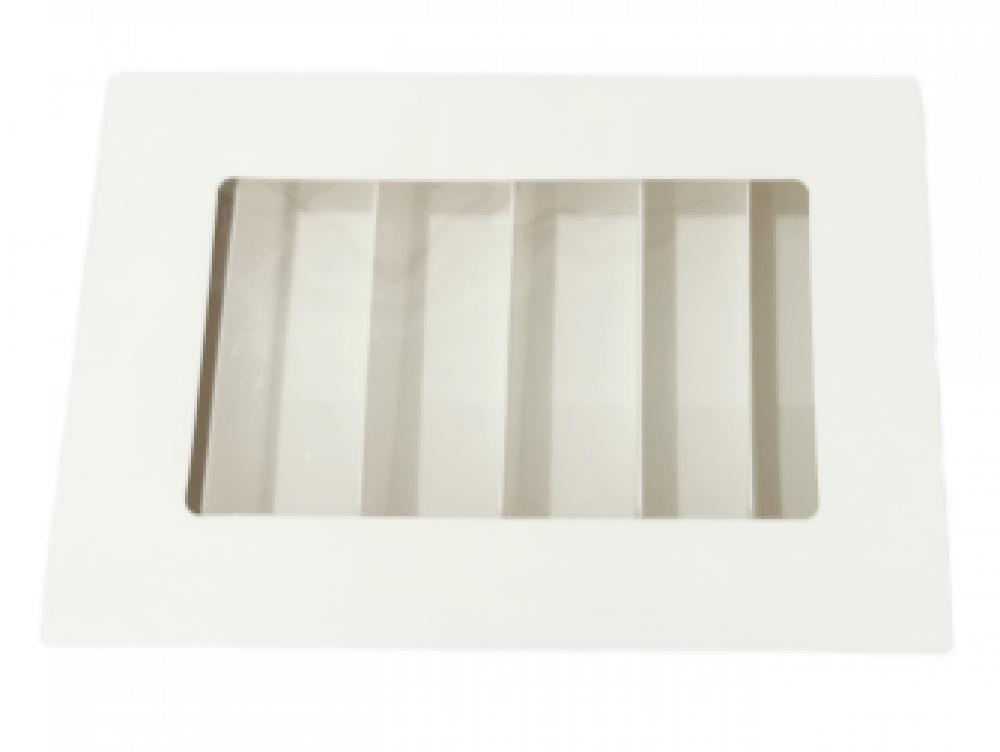 علب ورقية مقسمة بقاعدة شفاف مع سحاب