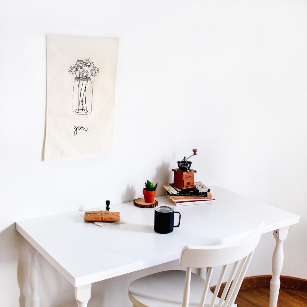 أفكار ديكور للمنزل أفكار لتنسيق جدار المكتب المنزلي باقة ديكور الصاله