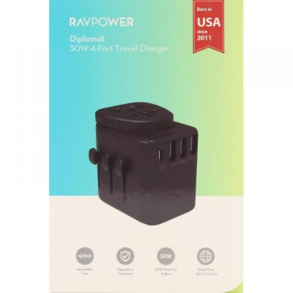 RAVPower Universal Power Adapter Black
