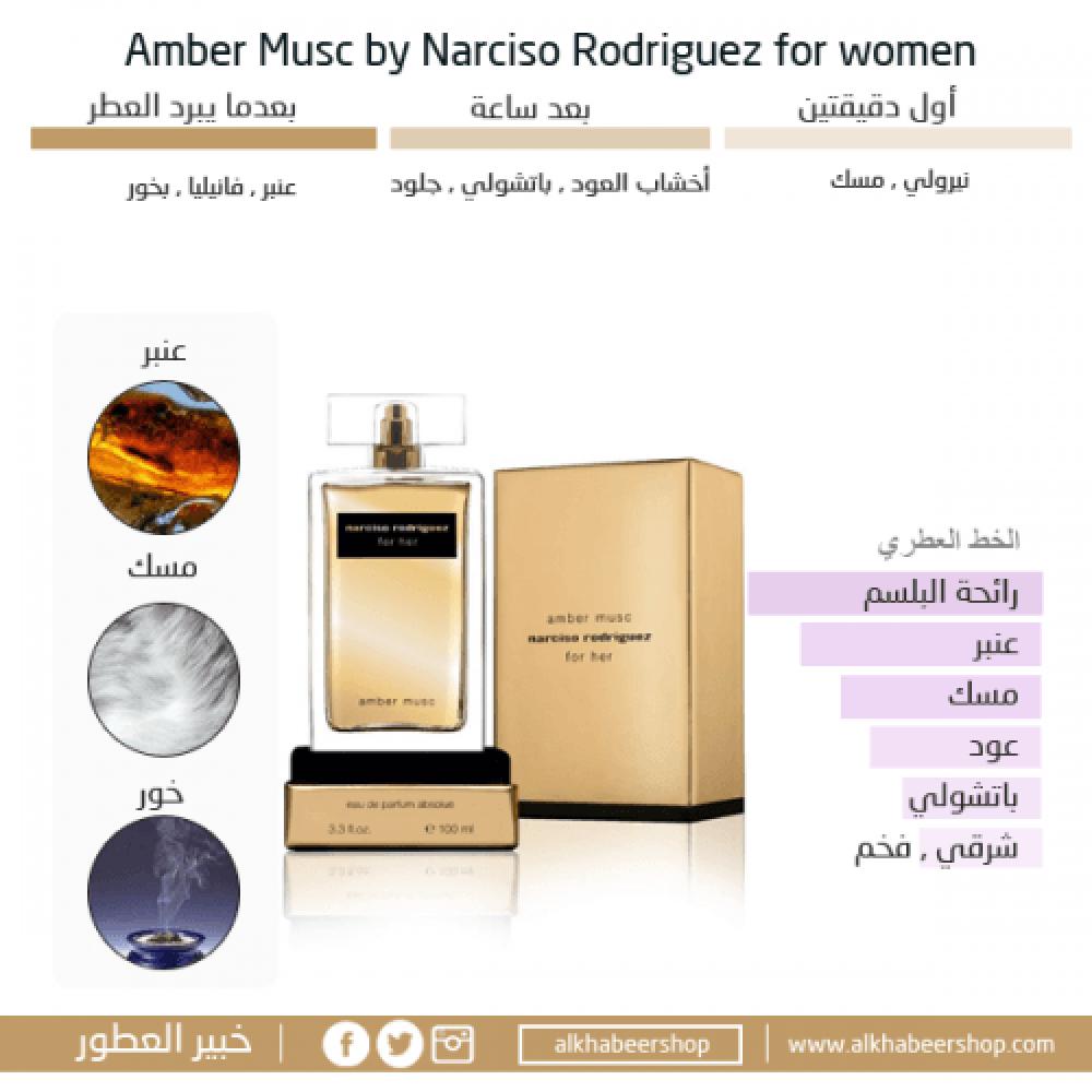 Narciso Rodriguez for Her Amber Musc Eau de Parfum 100ml خبير العطور