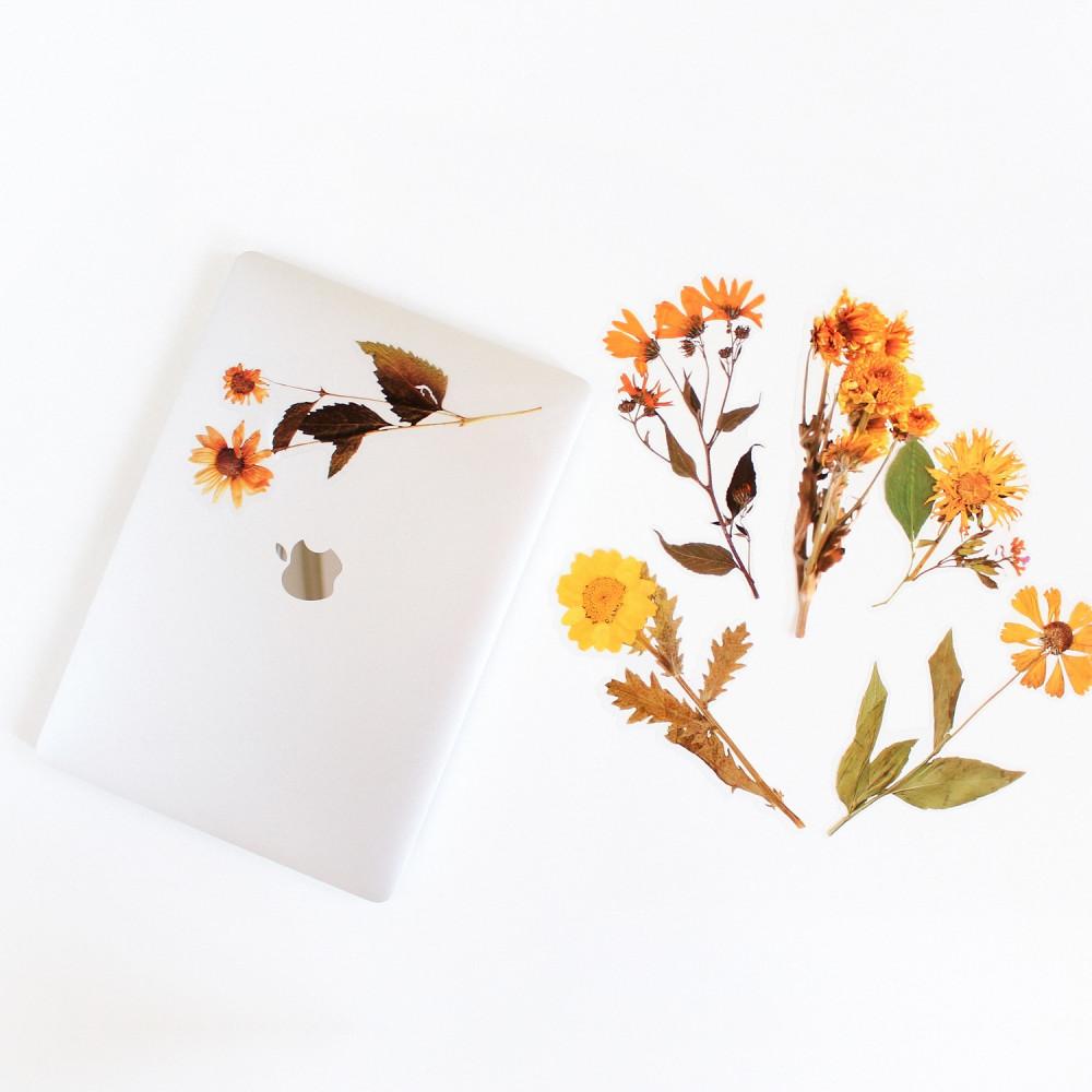 ستيكرات نباتات وزهور ستيكر ورود لتزيين اللابتوب أفكار لتغليف الهدايا