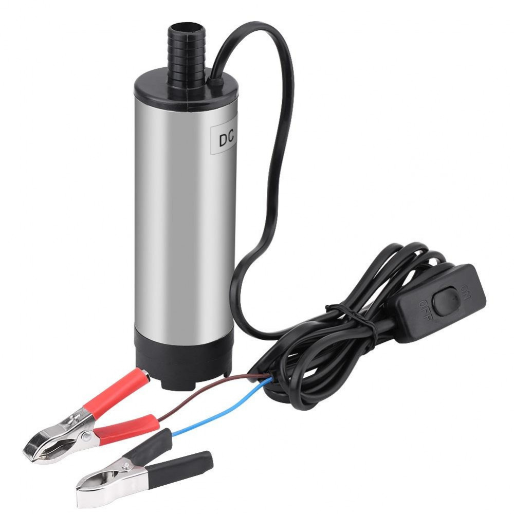 مضخة طرمبه لضخ وقود ديزل زيت مياه بجهد 24 فولت للسيارات المعدات