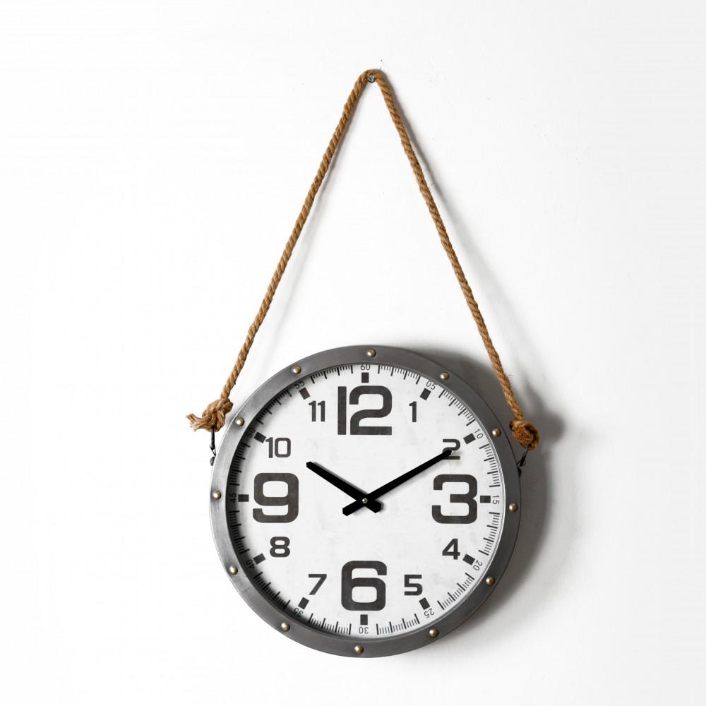 صور ساعة حائط أنتيكة موديل روبي دائرية بحبل قديمة صناعة معدنية