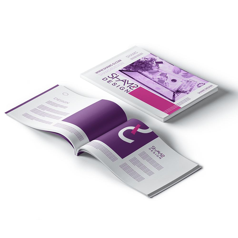 تصميم مجلات تصميم بحوث تصميم كتالوج تصميم كتيبات