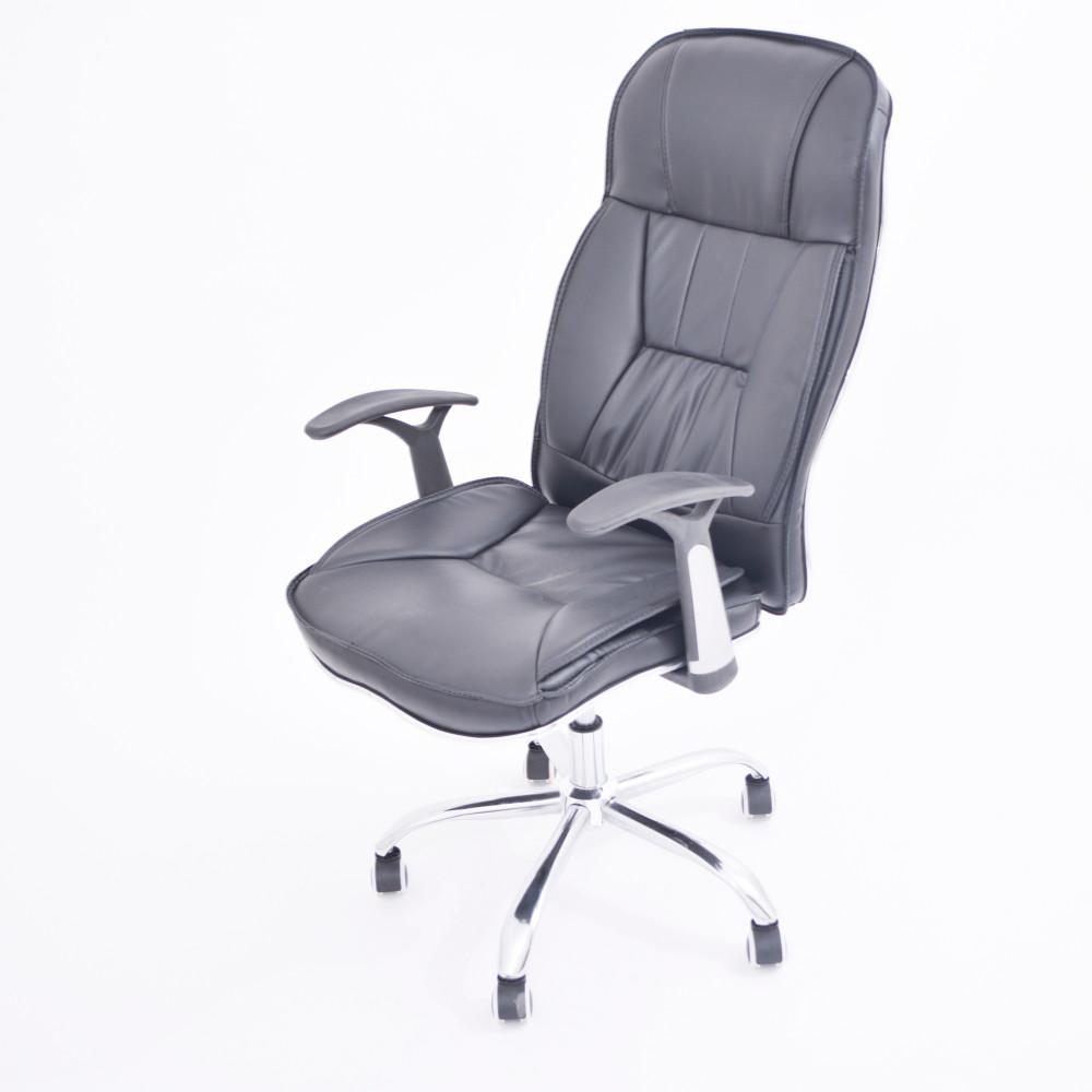 كرسي مكتبي جلد اسود YA-20 BLACK
