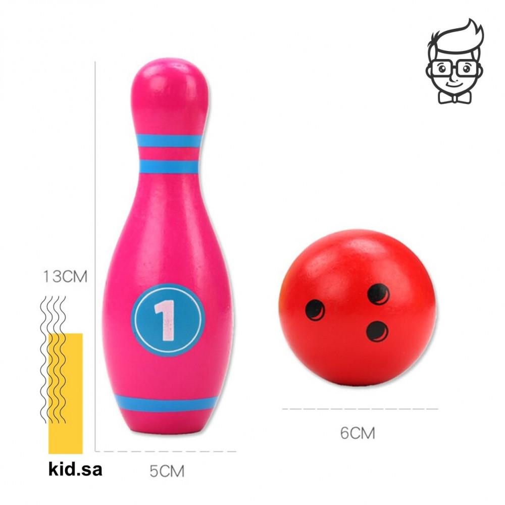 حجم مقاس لعبة البولينج للاطفال الخشبية