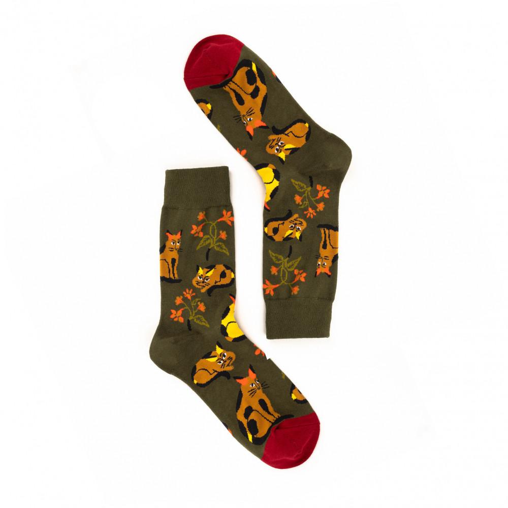 جوارب ملونة - تصاميم ابداعية  - جورب القطط اوالورد - Apogee socks