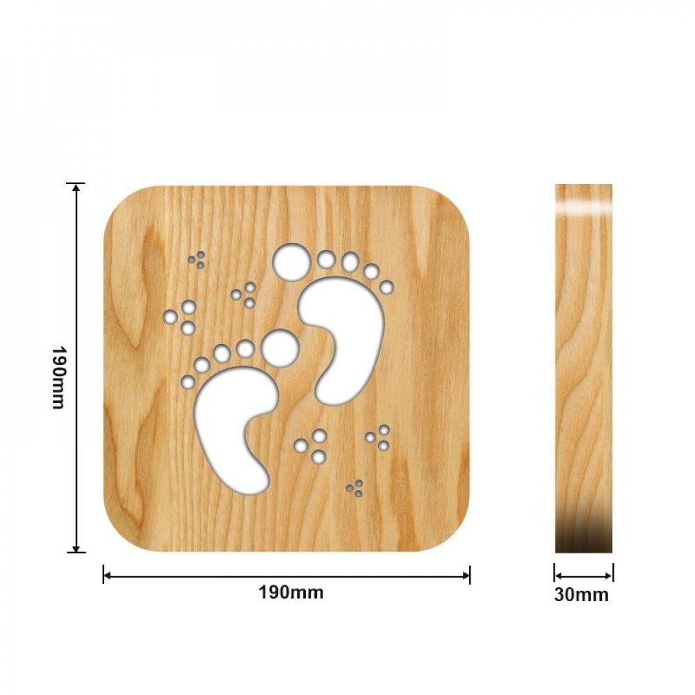 مواسم تحفة فنية مضيئة مصنوعة من الخشب توضيح القياسات التفصيلية
