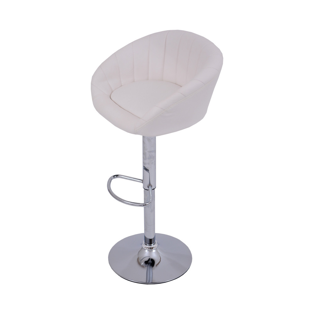 كرسي بوفيه جلد ابيض C-DTW311WHITE من كاما