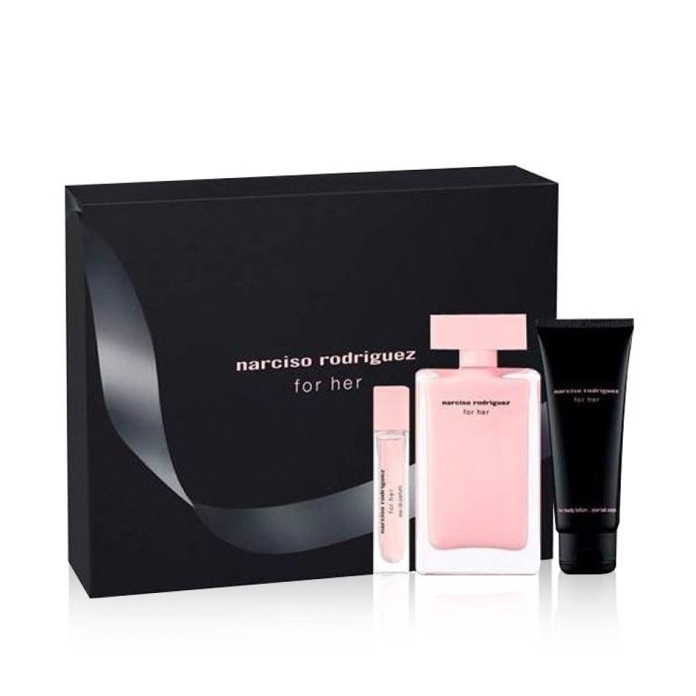 Narciso Rodriguez for Her Eau de Parfum 100ml 3 Gift Set  خبير العطور