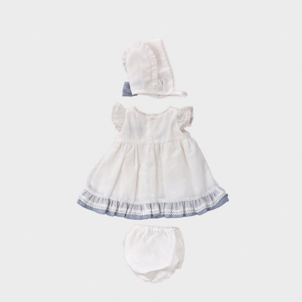فستان-أبيض-كشكشة-اسباني