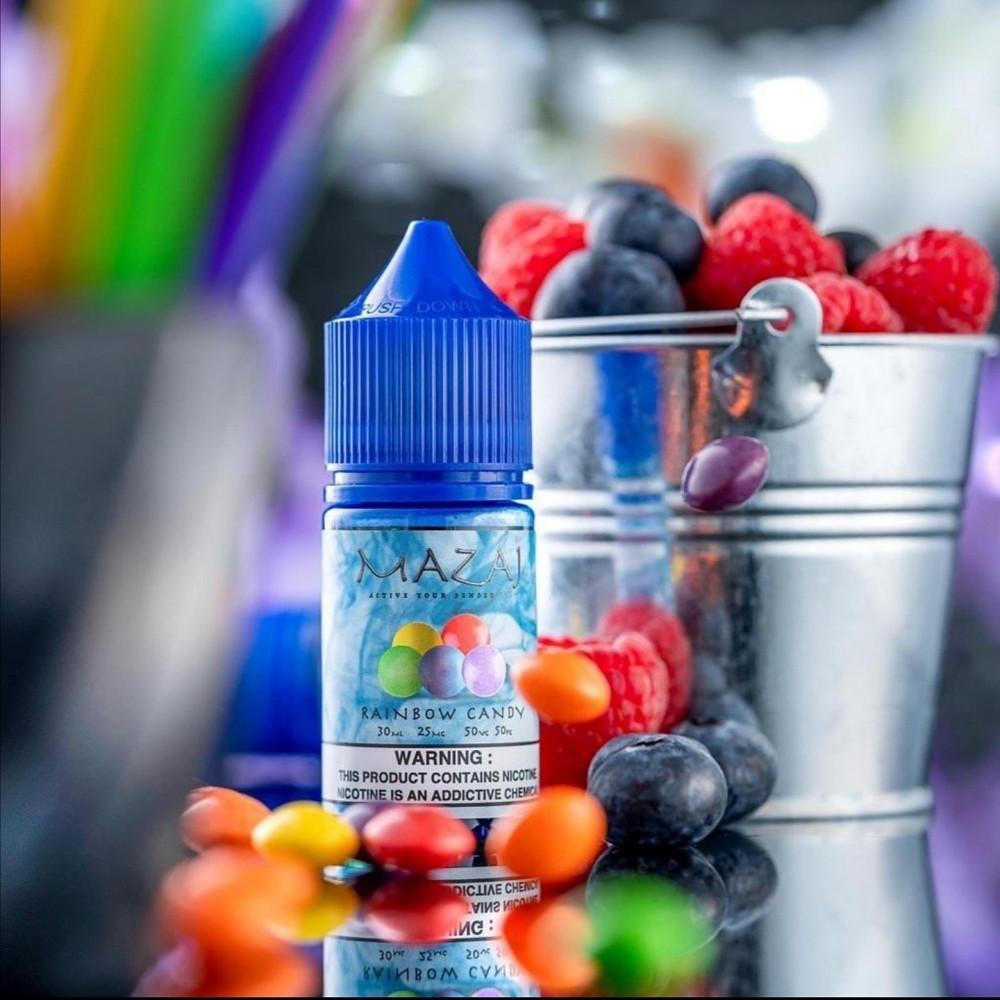 نكهة مزاج حلوى التوت سولت نيكوتين  MAZAJ RAINBOW CAND Salt