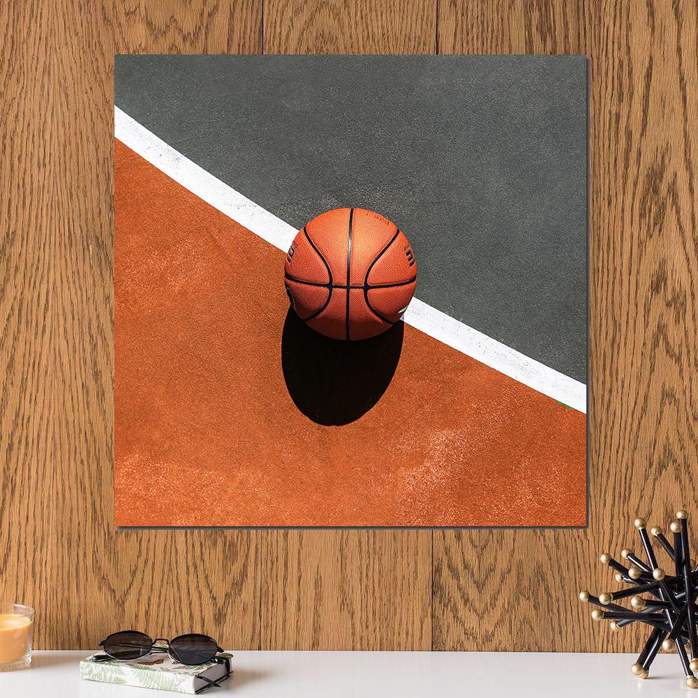 لوحة كرة سلة خشب ام دي اف مقاس 30x30 سنتيمتر