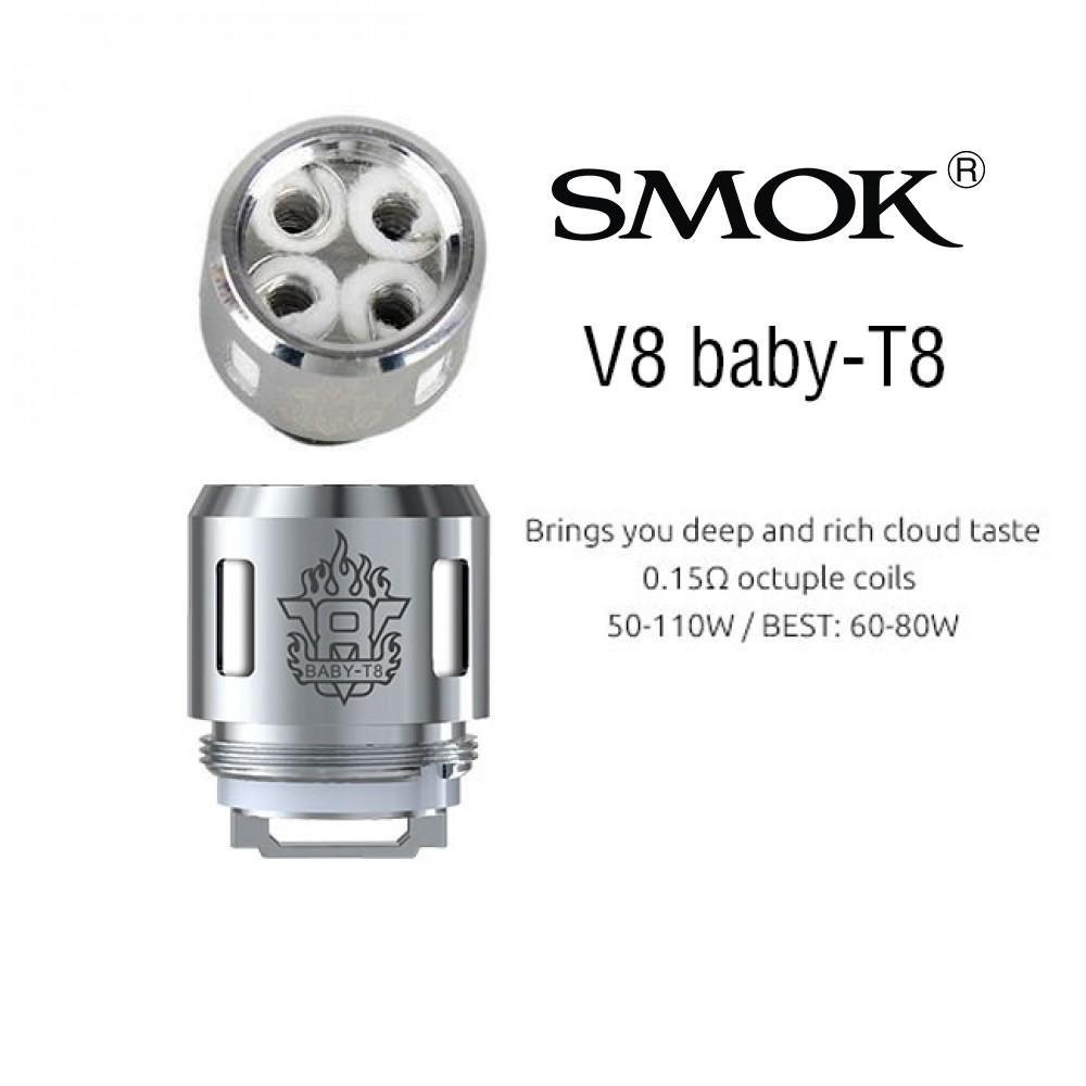 كويلات سموك SMOK V8 BABY T8 - فيب شيشة سيجارة موقع شحن الرياض