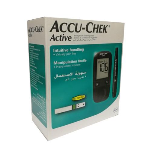 جهاز تحليل سكر Accu Chek Active مسحة سكر