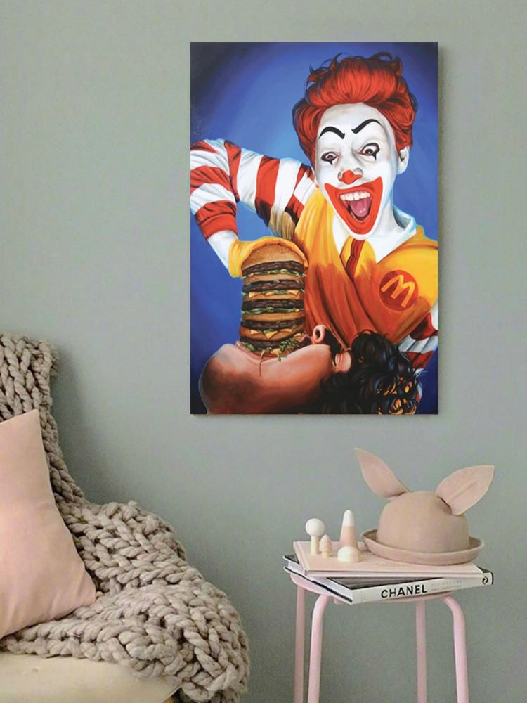 لوحة برغر ماكدونالدز خشب ام دي اف مقاس 40x60 سنتيمتر