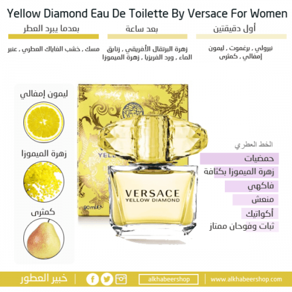 Versace Yellow Diamond Eau de Toilette 90ml خبير العطور