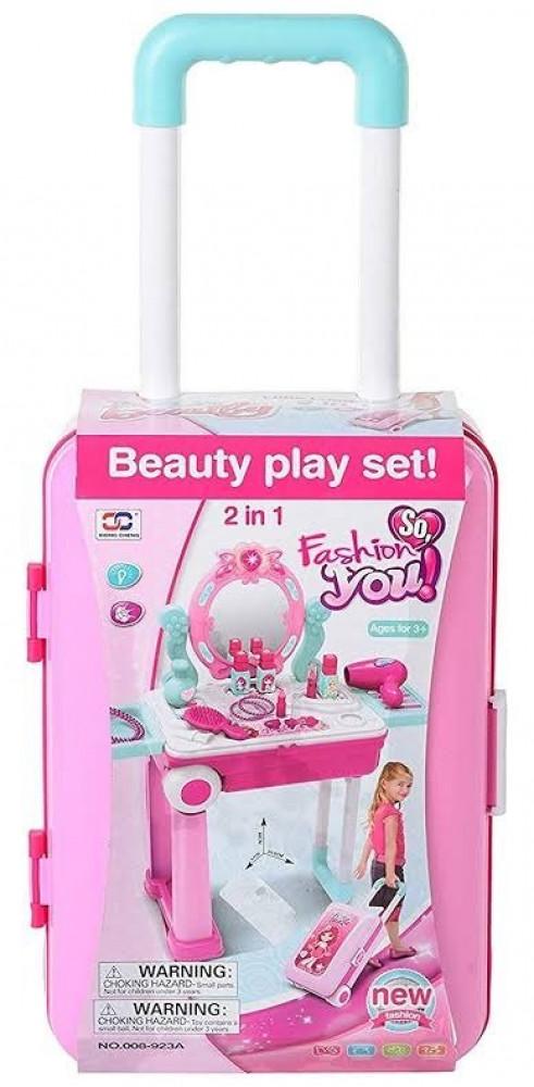 لعبة مجموعة حقيبة المكياج للفتيات   لعبة صندوق المكياج ومستحضرات تجميل
