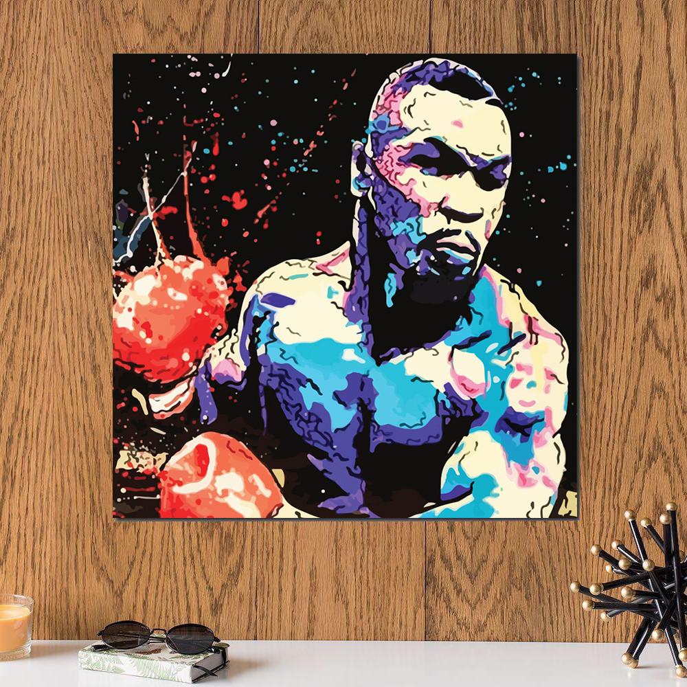 لوحة الملاكم مايك تايسون خشب ام دي اف مقاس 30x30 سنتيمتر