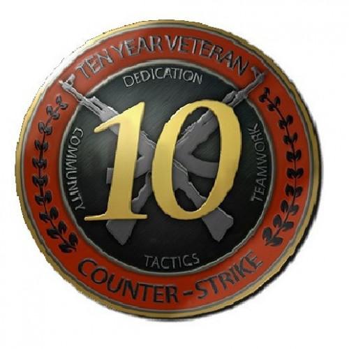 شعار كونتر سترايك 10 سنوات