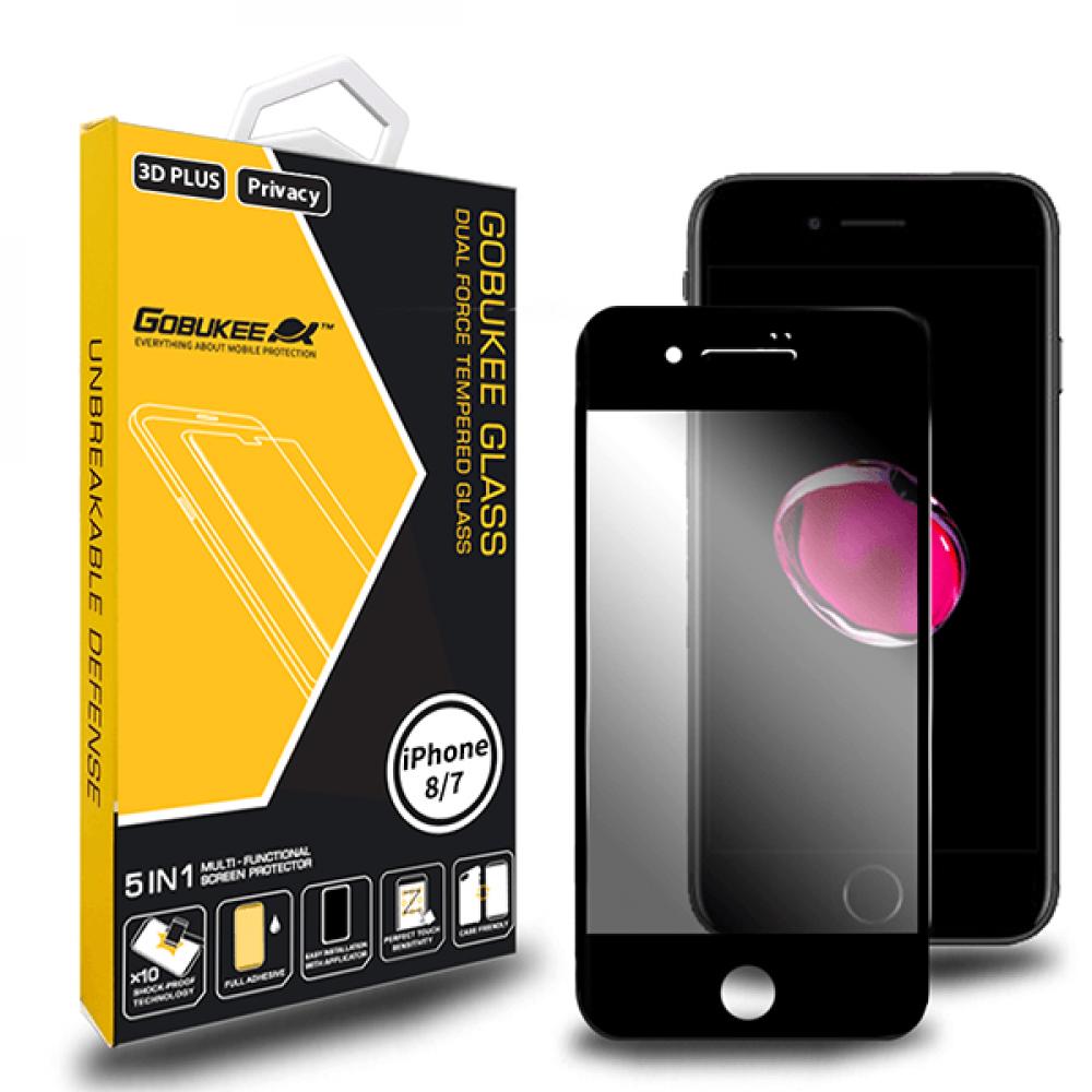 استكر حماية و خصوصية لكامل الشاشة 3D لأيفون 8و7 من جوبوكي - اسود