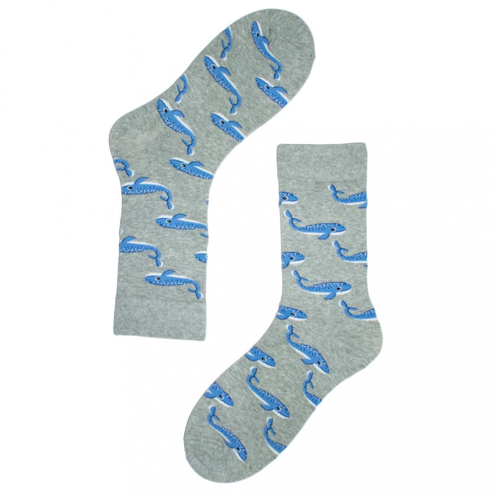 جوارب قطنية - جوارب حيوانات - جورب الحوت -  متجر أبوجي