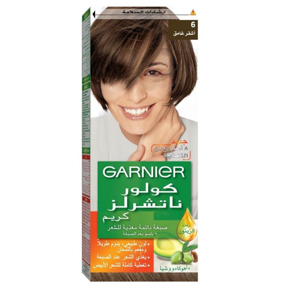 غارنييه صبغة شعر اشقر غامق 6