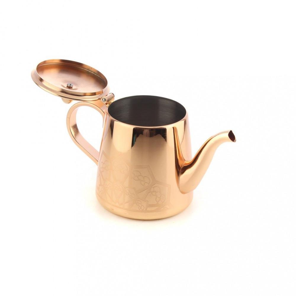 براد شاي استيل ذهبي