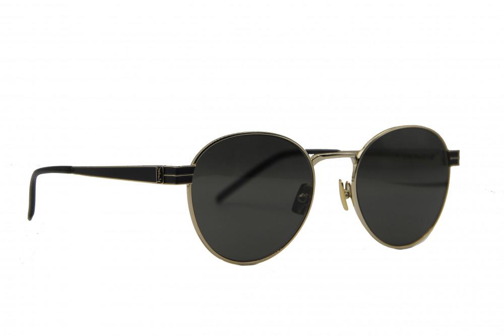 نظاره شمسية دائرية من ماركة SAINIT LAURENT بوكس حماية منديل اصلي حماية