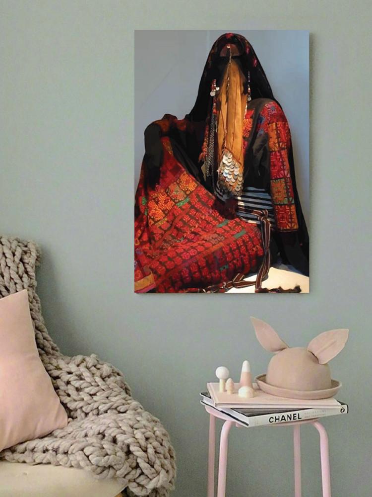 لوحة المرأة البدوية خشب ام دي اف مقاس 40x60 سنتيمتر