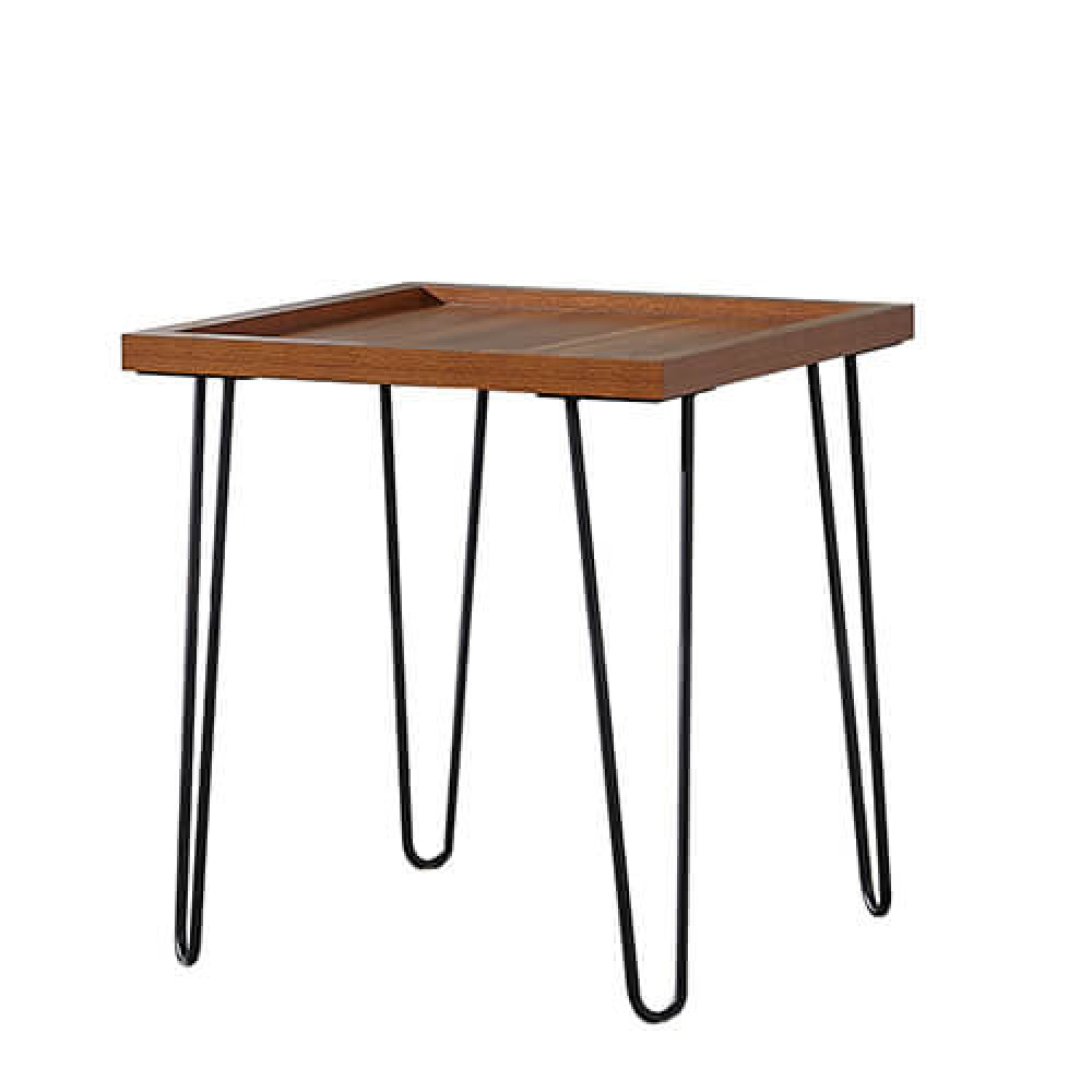 طاولة جانبية موديل كاري خشب MDF وسطح مقاوم للخدش ذات أرجل مودرن