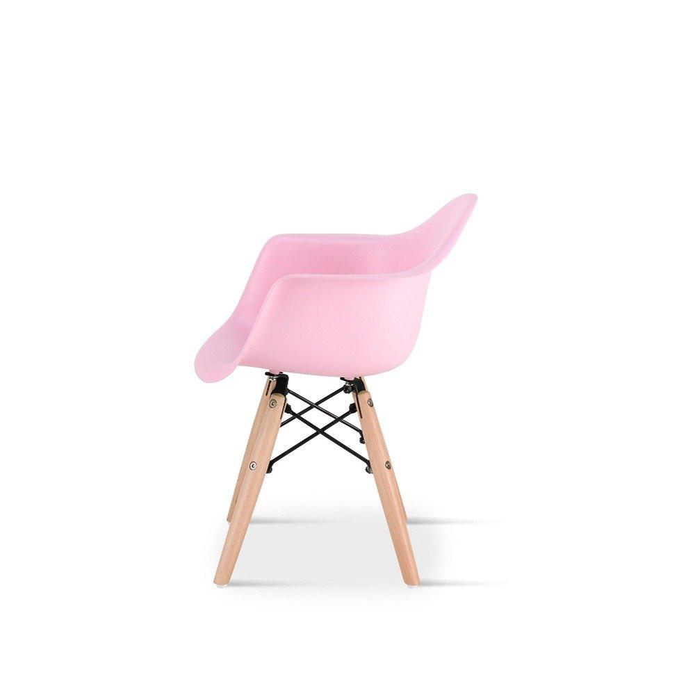 زاوية جانبية للكرسي في طقم كراسي أطفال وردي نيت هوم في متجر مواسم
