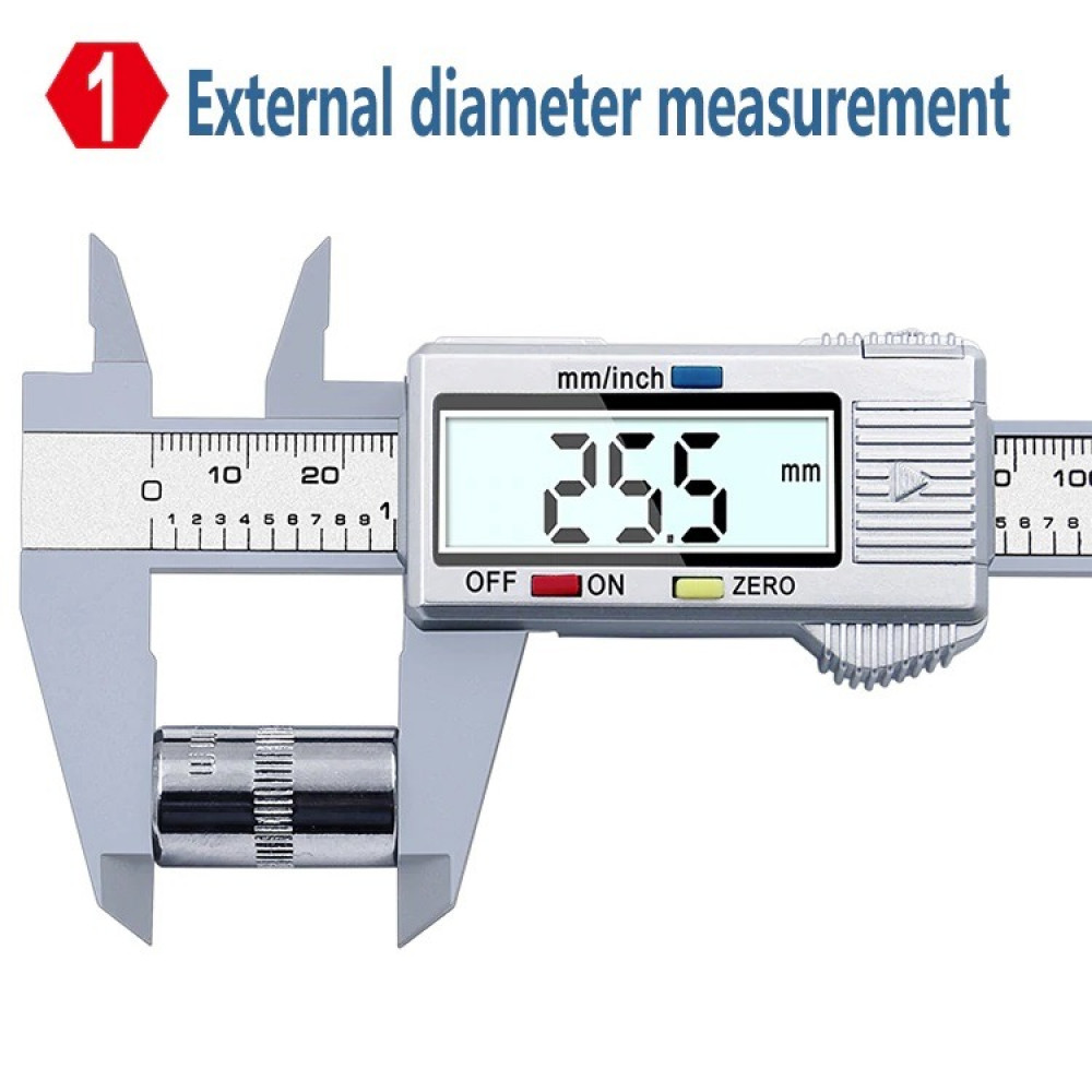 جهاز قياس ميكرومتر طول 150 مم 6 انش مع شاشة رقمية