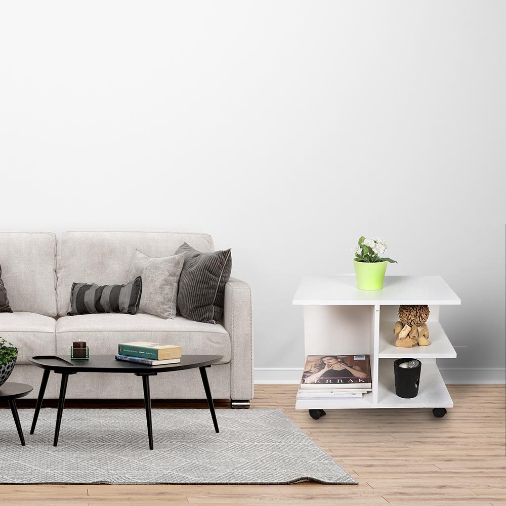 مواسم طاولة جانبية موديل نيت هوم ابيض خشب لغرف النوم والاستقبال