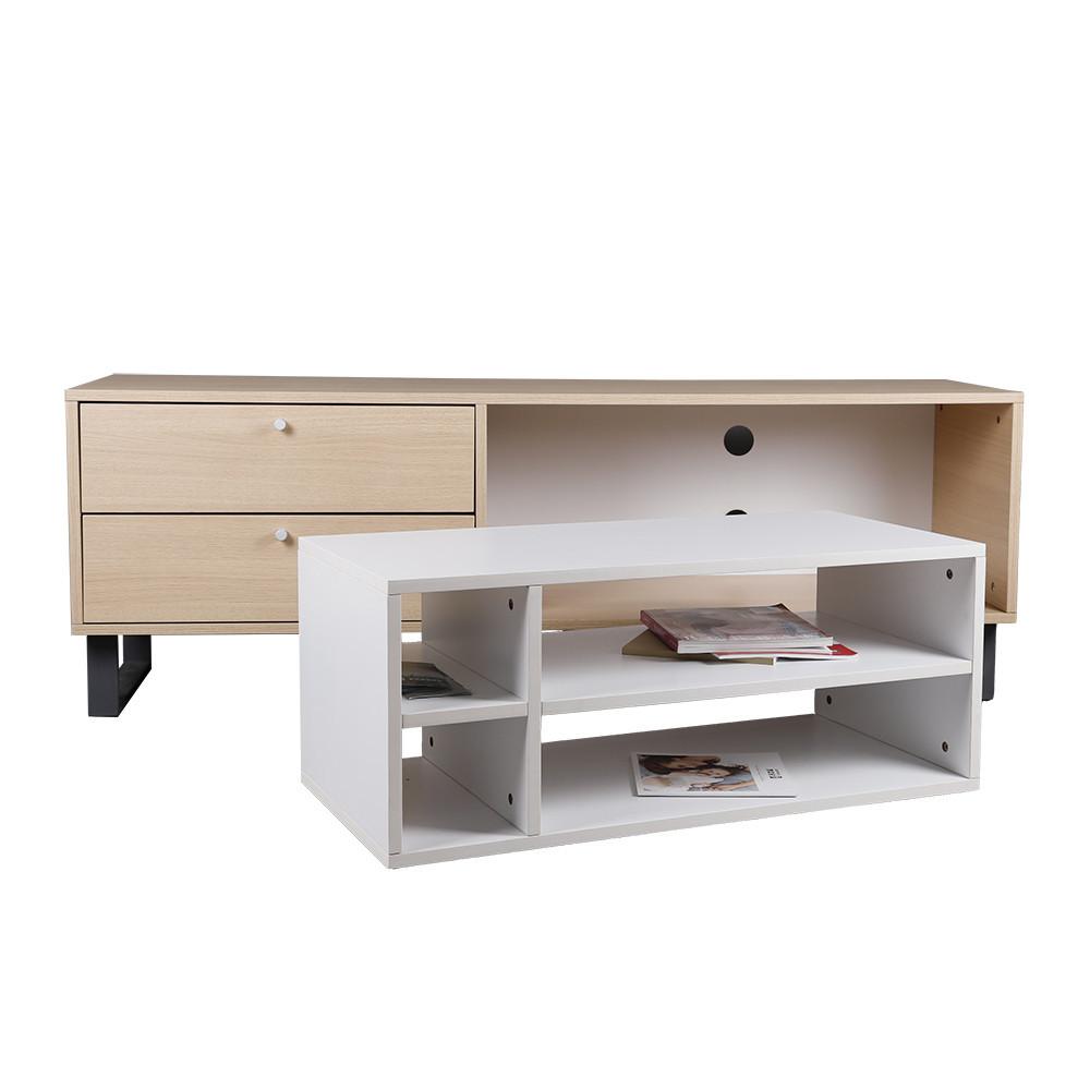 مواسم طاولة تلفزيون بأدراج تخزين بطاولة قهوة متحركة لأكثر من استخدام