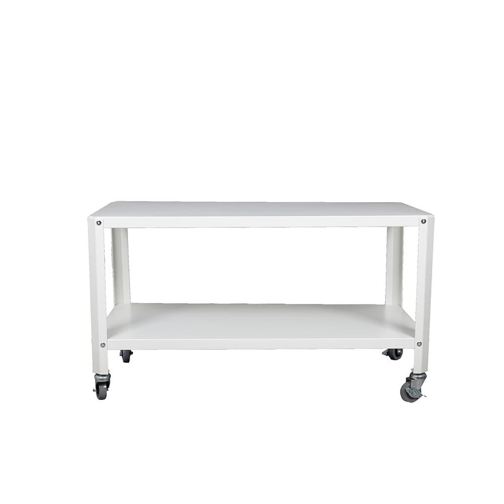 طاولات متنقلة طاولة متحركة بطبقتين موديل لوساكا ابيض أحدث الأثاث
