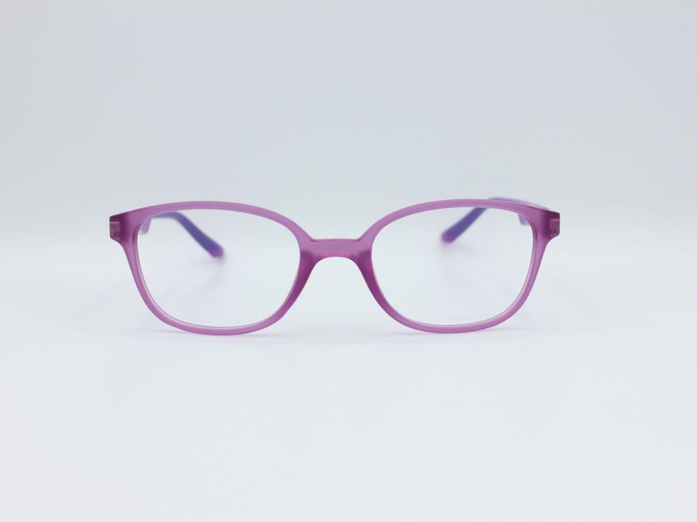 نظارة طبية للأطفال  من ماركة T دائرية مع عدسات بحماية لون الاطار موف