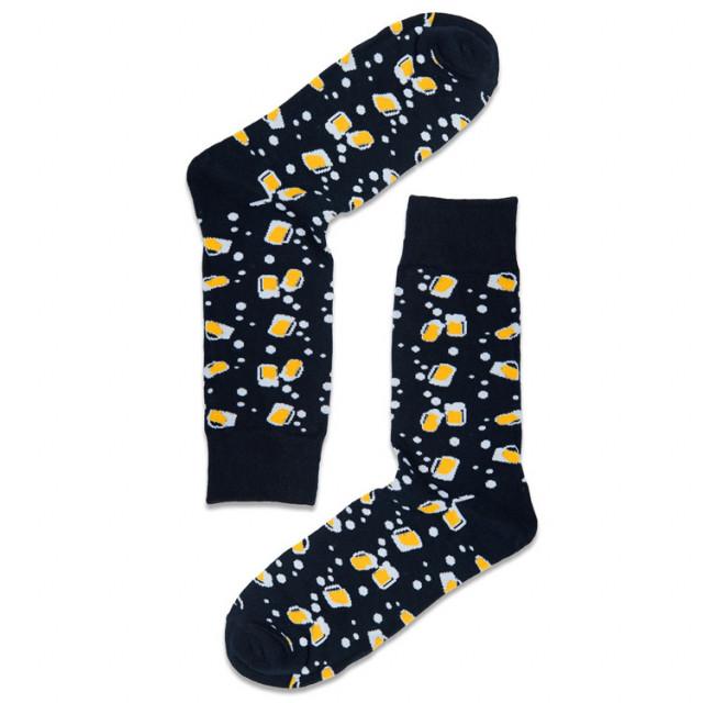 جوارب رسومات ملونه -شغف وابداع - جورب ا لبيرة الأسود- Apogee socks