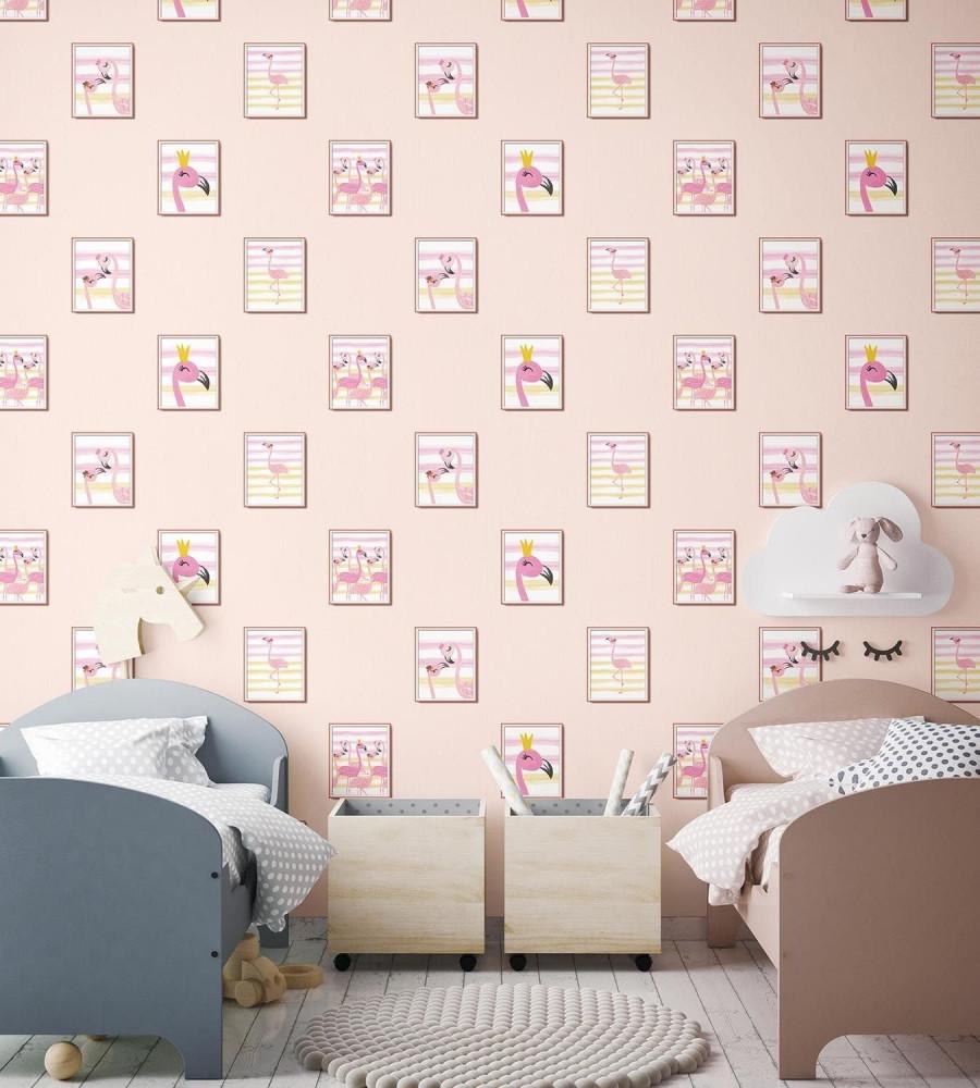 ورق حائط اطفال وردي