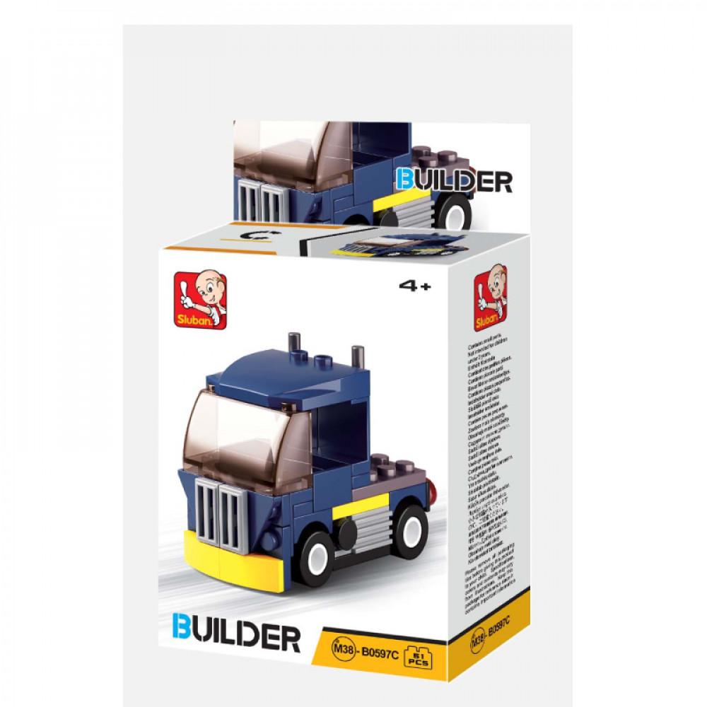 Sluban, Builder, Toys, سلوبان, قطع تركيب شاحنة, ألعاب