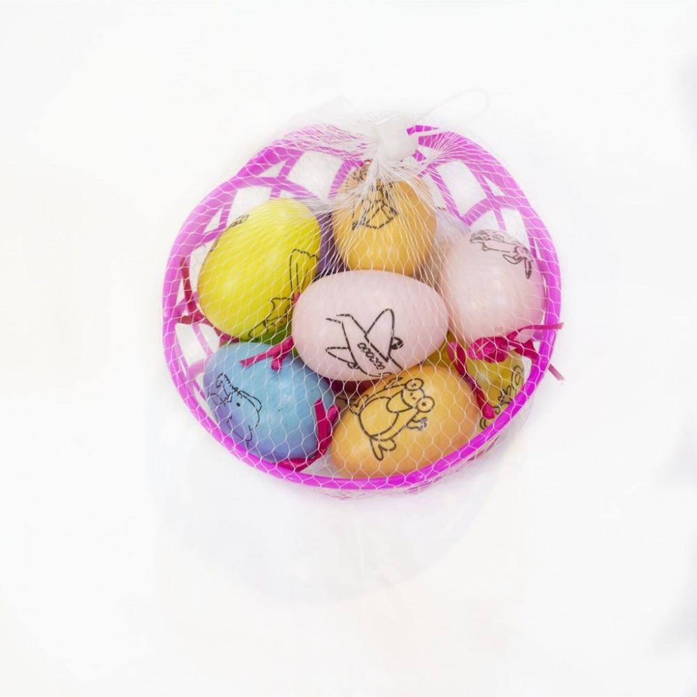 سلة البيض الملونة