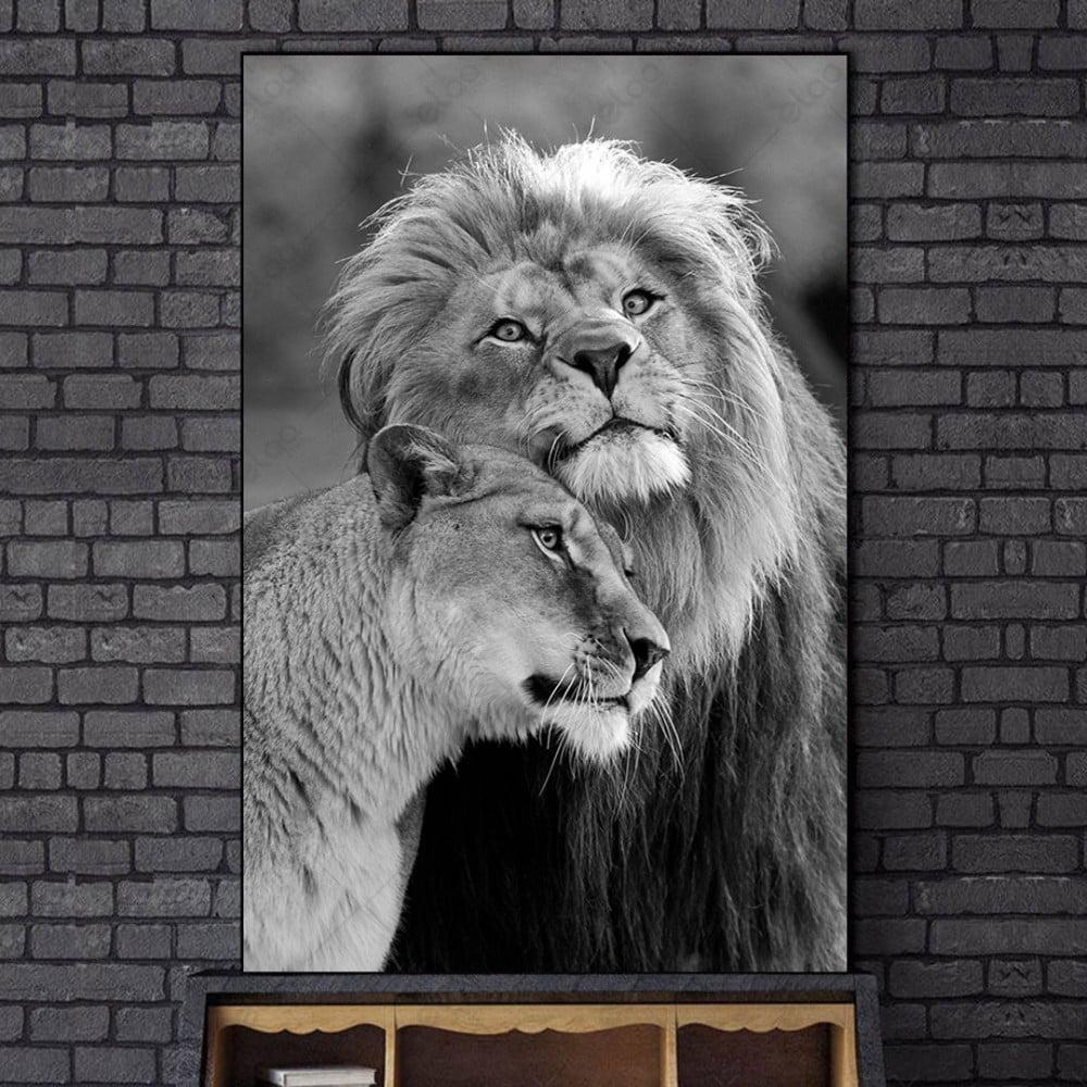 لوحة جدارية منظر طبيعي  زوج أسود دارك ارت