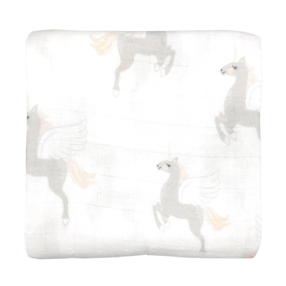 لفة من قماش الموسلين بتصميم Unicorn من ماركة Mister Fly من دوها