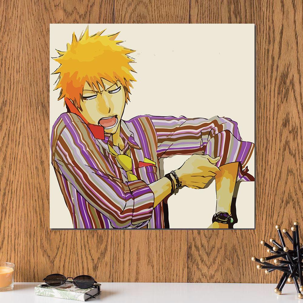 لوحة انمي خشب ام دي اف مقاس 30x30 سنتيمتر